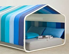 Beach Tent Canopy Beds - The Pause Indoor Hut is a Whimsical Refuge Within Your Very Own Home (GALLERY)