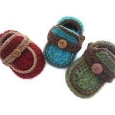 Boys Crochet Booties