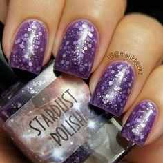 "Nails -  ""The Grape Gatsby"" by Stardust Polish --- Instagram @majikbeenz"