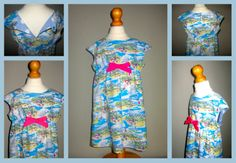 Little outfit made using our seaside print fabric