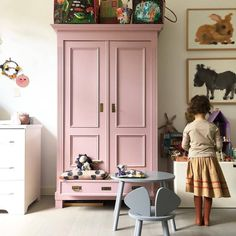 is a lovely colour for this statement armoire in a childs room. : is a lovely colour for this statement armoire in a childs room. Farrow Ball, Painting Kids Furniture, Painted Furniture, Cinder Rose Farrow And Ball, Girls Bedroom, Bedroom Decor, Childs Bedroom, Bedroom Furniture, Kids Room Design