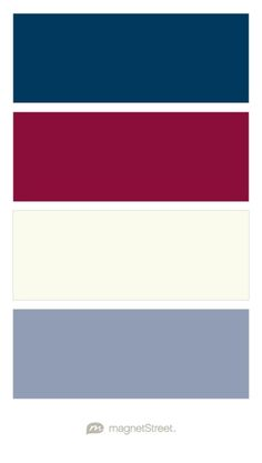Navy, Burgundy, Ivory, and Shale - Free Color Swatches ordered at MagnetStreet.com