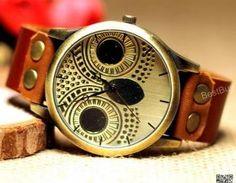 Women Wristwatches Leather Owl Watc..