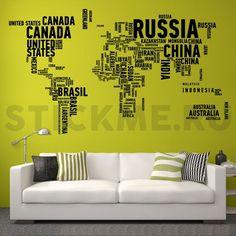Карта мира в словах   stickme.ru