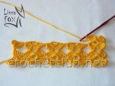 master class on knitting unseparated 45 Crochet Borders, Crochet Flower Patterns, Crochet Diagram, Crochet Stitches Patterns, Crochet Motif, Crochet Flowers, Crochet Lace, Knitting Patterns, Diy Crafts Crochet