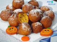 Buñuelos de calabaza Thermomix Dulces Halloween, Pretzel Bites, Cooking Tips, Muffin, Bread, Breakfast, Cake, Recipes, Food