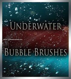 Underwater Bubble Brushes by MorganBW on DeviantArt Free Photoshop, Photoshop Brushes, Photoshop Tutorial, Photoshop Actions, Lightroom, Photoshop For Photographers, Photoshop Photography, Firealpaca Brushes, Free Brushes