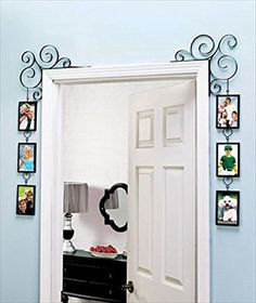 Unique Wall Picture Frame Great for a Collage Family Tree Decorative Scroll Photo Gallery Frame Set for Doorway or Window Great Frames for Grandchildren Mother and Child Pets and Wedding Photo.