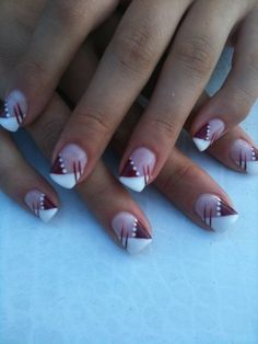Beautiful nail art designs that are just too cute to resist. It's time to try out something new with your nail art. Nail Art Designs, Fingernail Designs, French Nail Designs, Pedicure Designs, Acrylic Nail Designs, Nails Design, Pink Nail Art, Gel Nail Art, Marion Nails