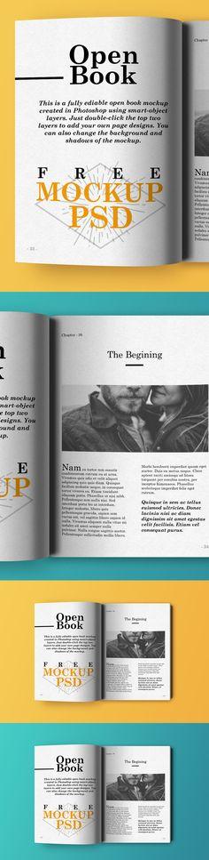Free Open Book Mockup PSD (13.4 MB) | graphicsfuel.com | #free #photoshop #mockup