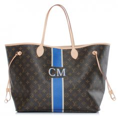 This is an authentic New LOUIS VUITTON Mon Monogram Neverfull GM.  This stylish tote is crafted of classic Louis Vuitton monogram coated canvas and is in the largest size with a printed vertical stripe on the front.