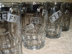 FFA etched glass mugs.... made with mugs purchased from Wal-mart and Armor etch from Hobby Lobby.... made for my sisters FFA auction.... to be sold in January!