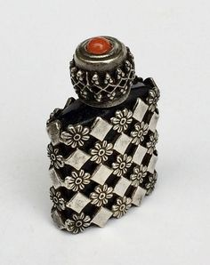 Mini Perfume Bottle Silver Cage Made in France
