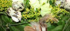 Een half paasei vol bloemen Half