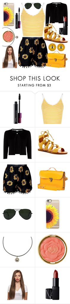 """""""Untitled #365"""" by becca-h-c on Polyvore featuring MAC Cosmetics, Glamorous, Precis Petite, Dolce Vita, N'Damus, Ray-Ban, Casetify, Milani, NARS Cosmetics and Burt's Bees"""