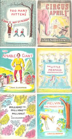 louis slobodkin these would e great posters for kid's rooms