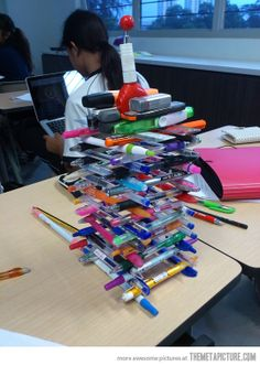 Pen stacking: The next item on the PLC agenda.