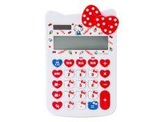 Hello Kitty Shaped Calculator 12 Digit Solar Powered SANRIO JAPAN