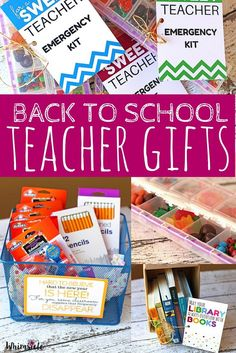 Want to get on the teacher's good side?  These are perfect gifts that will help your child's teacher in the beginning of the year.  Plus they are easy back to school teacher gifts!