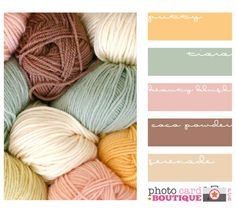 love these colors in combination, would make a nice pretty spring knitted blanket, maybe in something light and fluffy like cotton?