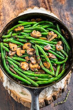 Green Beans with Bacon Mushroom Sauce | GI 365 | Bloglovin'