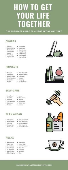 How to bring your life together - Selbstverbesserung - Health Self Development, Personal Development, Life Hacks, Vie Motivation, Get My Life Together, Get Your Life, New Life, Self Care Activities, Self Improvement Tips