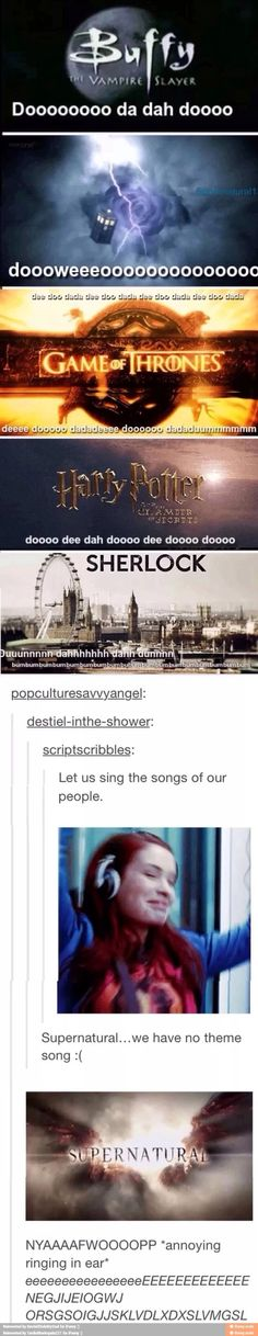 Admit it we all sang the Harry Potter theme song < and doctor who, and sherlock Fandoms Unite, Castiel, Superwholock, Benedict Cumberbatch, Jensen Ackles, Doctor Who, Fangirl, The Lord, Supernatural Memes