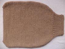 Strampelsack Merinowolle 50cm Pucksack gestrickt