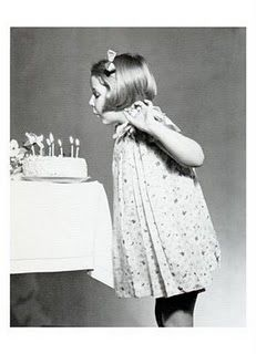 Vintage birthday photo
