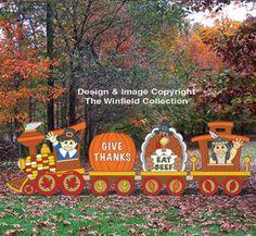 Thanksgiving Train Woodcraft Pattern