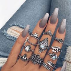 WEBSTA @ fashion_essential - Nails or rings  @onlineshoppingsite •For shopping link in bio