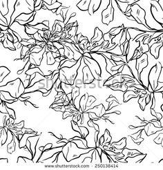 vector flowers - seamless pattern