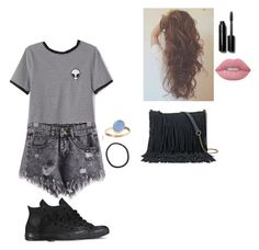 """""""Sabrina carpenter concert ootd(rtd)"""" by bandgirl1213 ❤ liked on Polyvore featuring WithChic, Converse, Latelita, SONOMA Goods for Life, Bobbi Brown Cosmetics and Lime Crime"""