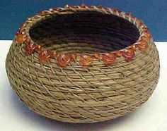 Pineneedle baskets | Shelly's first pine needle basket, as taught by Lisa McCament