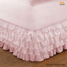 Bedskirt Queen Looks Very Beautiful In Pink