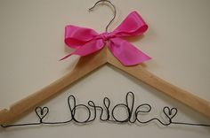 For bridesmaid gifts. You can choose color of bow and wire and it can say whatever you want.
