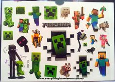 New Minecraft Temporary Tattoo Birthday Party Favour - http://www.austree.com.au/ads/clothing-jewellery/accessories-clothing-jewellery-2/minecraft-temporary-tattoo-birthday-party-favour/26351/
