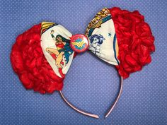 Wonder Woman Inspired Floral Mouse Ears