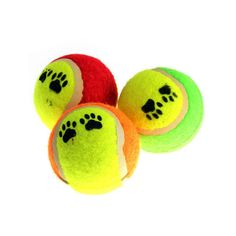 Cute Funny Dog Toy Tennis Balls Run Catch Throw Play Toy Chew Toys Pet... ❤ liked on Polyvore featuring animals