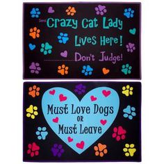 Must Love Cats & Dogs Door Mat Collection