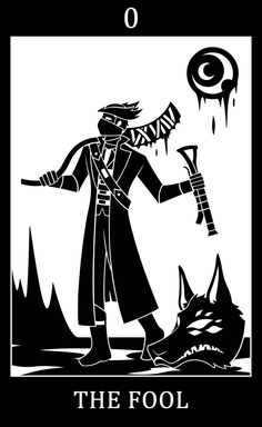 "hisclockworkservants: "" Bloodborne fanart, Bloodborne Tarot Cards. •  0 - The Fool - The Good Hunter So yeah I'll just do the Major Arcana and will probably be regretting this ._. Aslo I have like no..."