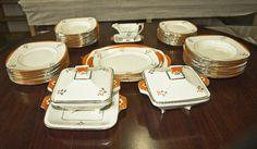 Lot 589 - An Art Deco Burleigh part dinner service