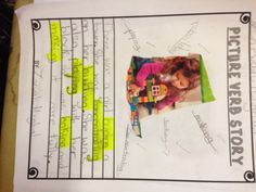 Verbs magazine picture writing activity