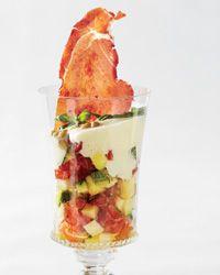 Zucchini-Tomato Verrines | Most Paris bistros serve at least one verrine: a multi-textured salad or dessert layered in a glass.