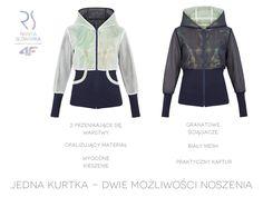 Dziewczyny! Lubicie uniwersalne ubrania? Mamy coś dla Was! Dwustronna kurtka z kolekcji RSx4F, czyli klasyczny projekt w futurystycznym, hologramowym wydaniu!