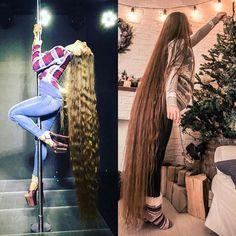 Real Life Rapunzel, Face L, Long Locks, Very Long Hair, Gorgeous Hair, Hair Lengths, Ukraine, Dreadlocks, Long Hair Styles