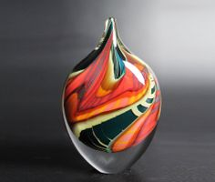 Peter Layton glassware Green Paradiso dropper  The combination of colours is gorgeous
