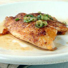 Five-Spice Tilapia with Citrus Ponzu Sauce  5 points plus per serving