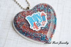 July 4th Inspired Pendant by LeadFootJewelry on Etsy