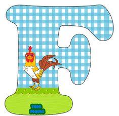 Letras La Granja de Zenon Abecedario para descargar gratis | Todo Peques Farm Animal Crafts, Safari, Alphabet Templates, Barn Animals, Tiger Stripes, Dinosaur Stuffed Animal, Baby, Letters, Bingo